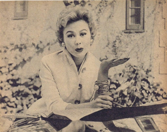 Mitzi Gaynor 1956 Vintage Photo and Movie News and Autograph Copy