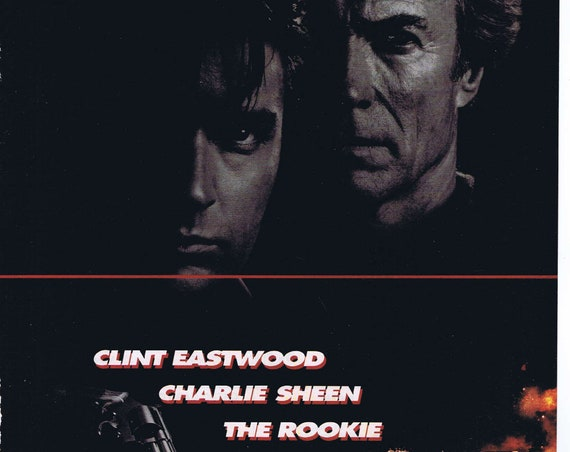 The Rookie 1990 Police Story Original Movie Ad with Clint Eastwood and Charlie Sheen