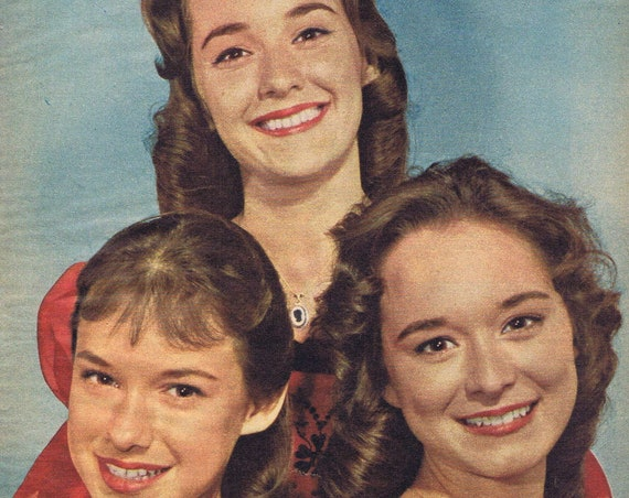 The Lennon Sisters of Lawrence Welk fame 1961 vintage color picture Plus Bonus Page