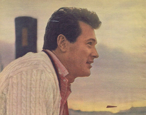1962 Classic Star Rock Hudson Nice Pose with Smile Star Picture
