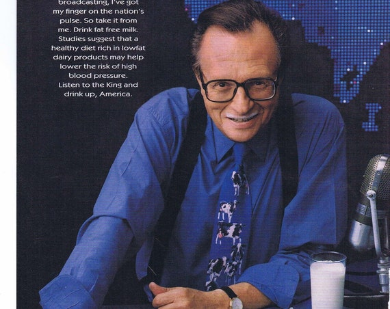 "Larry King ""Got Milk"" 1997 Original Advertisement"