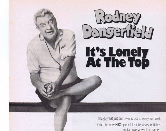 Rodney Dangerfield 1992 HBO Home Box Office Original Vintage Advertisement