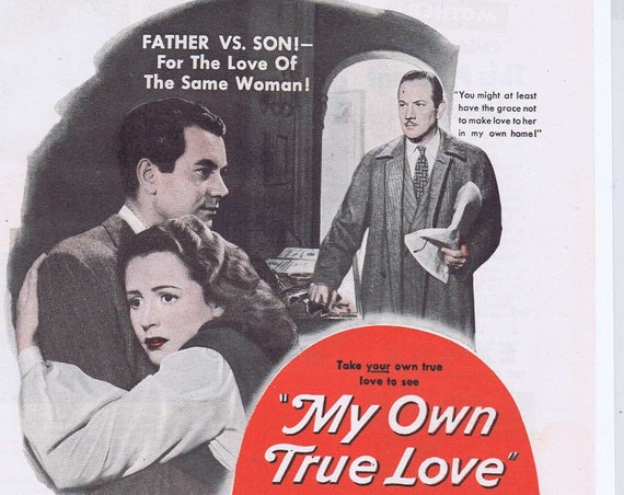 My Own True Love 1949 Original Movie Ad with Phyllis Calvert & Melvyn Douglas