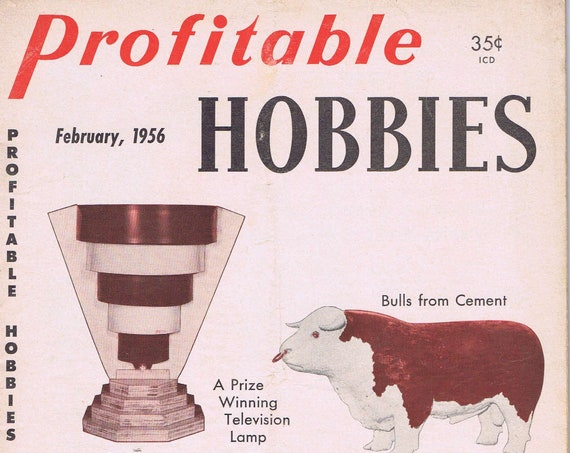 Profitable Hobbies February 1956 Vintage Magazine Easy-to-Make Finger Puppets