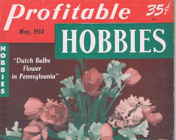 Profitable Hobbies May 1954 Vintage Magazine Dutch Bulbs Flower in Pennsylvania