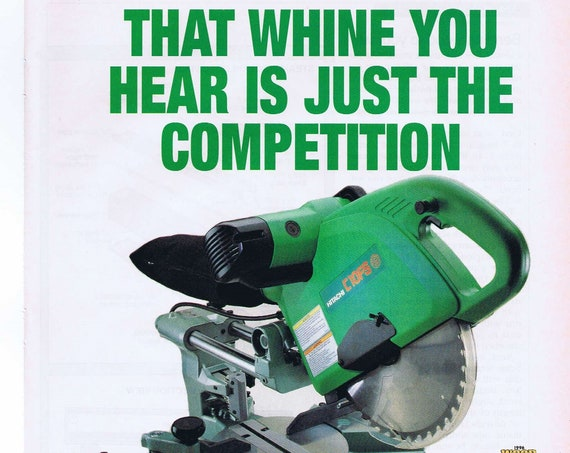 Hitachi C100FS Power Saw Original 1997 Advertisement
