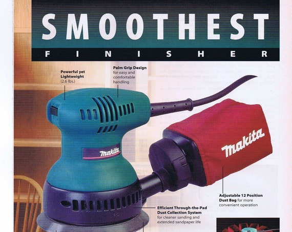 "Makita BO4010 5"" Random Orbit Sander Original 1997 Advertisement"