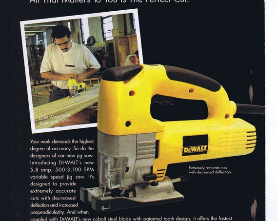 DeWalt Industrial Jigdsaw and Plate Joiner 1997 Ad