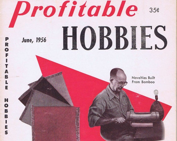 Profitable Hobbies June 1956 Vintage Magazine Novelties Build from Bamboo