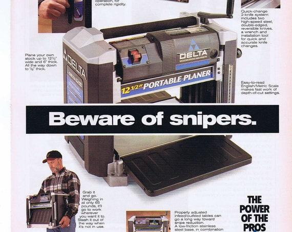 "Delta 12.5"" Portable Planer Woodworking Tool Original 1997 Advertisement"