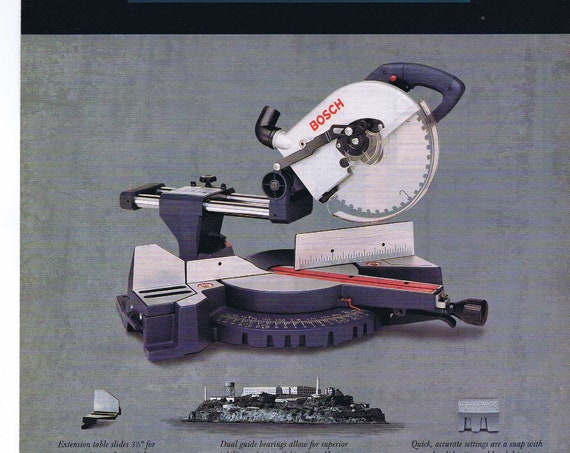 1997 Bosch Compound Miter Saw Original Advertisement