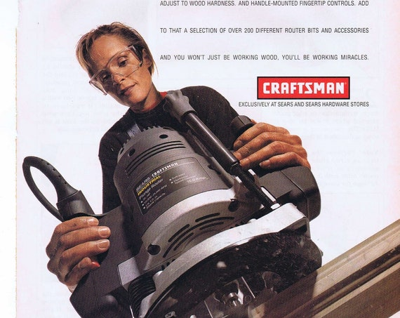 Craftsman Sears Plunge Router 1997 Ad with Photo