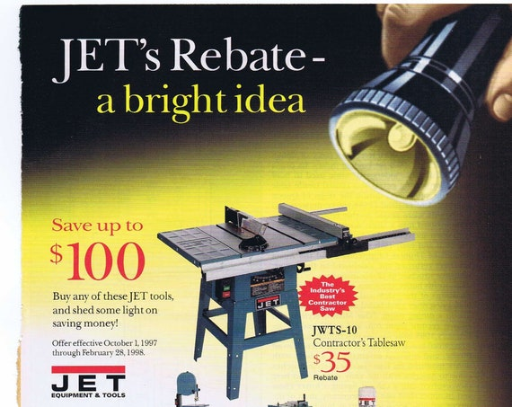 Jet Equipment and Power Tools Original 1997 Advertisement with Prices