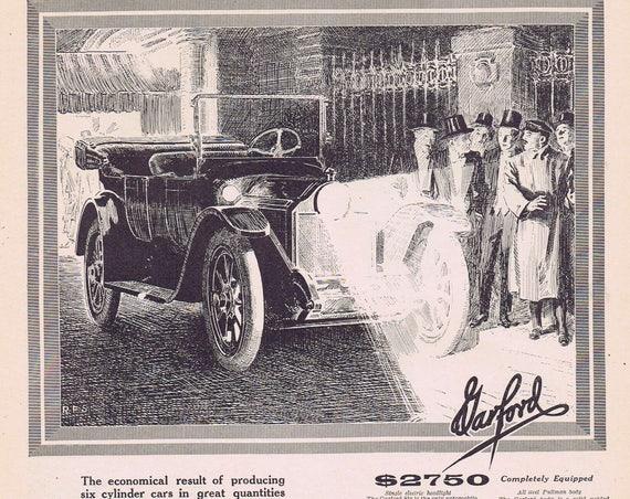 1913 Garford Vintage Automobile or Franklin Simon & Co Women's New Model Sports Coats Original Vintage Advertisement