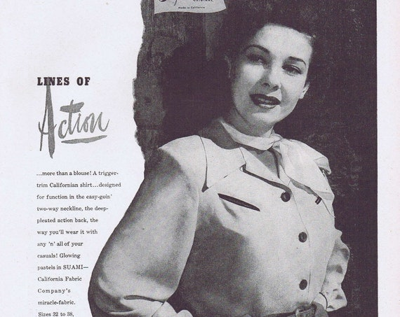 1946 Jay Steven Suami of California Women's Fashions or Donaldson's Specialty Shop Original Vintage Ad