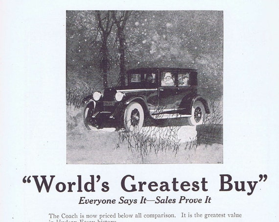 1925 Hudson Essex Coach Automobile Original Vintage Advertisements