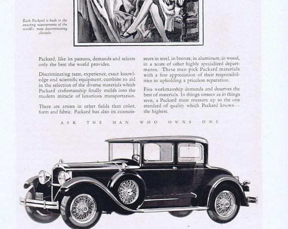 1927 Packard Old Car Original Vintage Automobile Advertisement