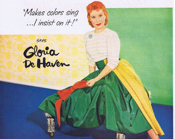 """Gloria De Haven 1951 Lux Flakes Original Vintage Ad Starring in """"Two Tickets to Broadway"""""""