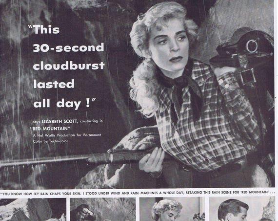"Lizabeth Scott 1952 Jergens Hand Lotion Original Vintage Ad starring in ""Red Mountain"" Western"