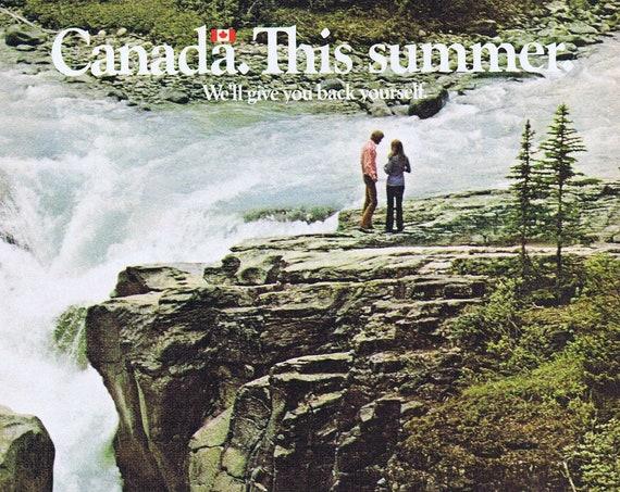 1972 Travel to Canada Original Vintage Advertisement