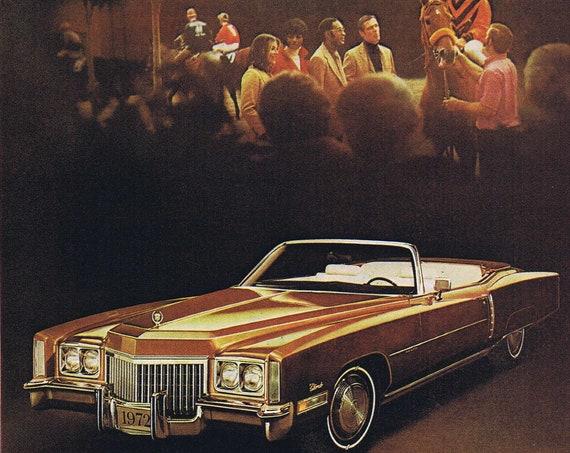1972 Cadillac Eldorado Convertible Original Vintage Car Advertisement