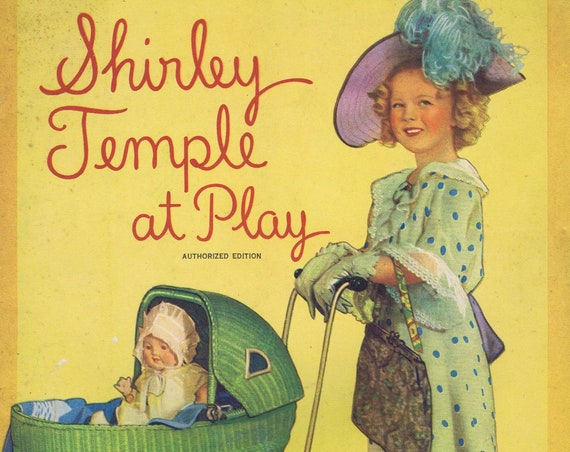 1935 Shirley Temple at Play Saafield Authorized Edition Big Color Book and Story with Wonderful Art Free Shipping