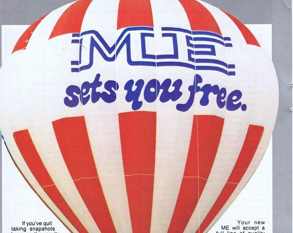 1978 Pentax ME Camera and Air Balloon Original Vintage Advertisement