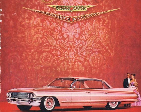 1961 Beautiful Pink Cadillac Original Vintage Automobile Advertisement