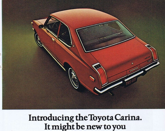 72 Toyota Carina or Bulova Accutron Watch Original Vintage Advertisements