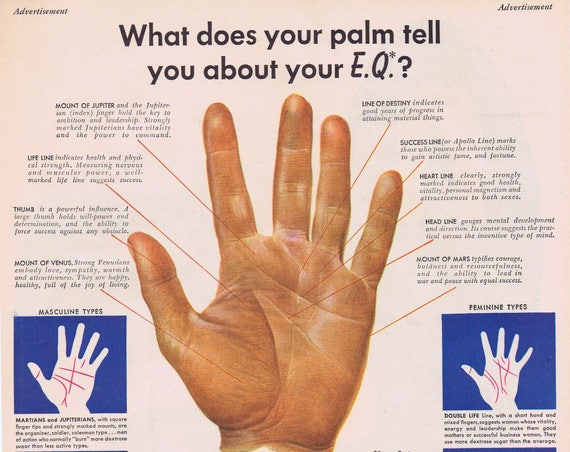 1947 Palm Reading Energy Quota Original Vintage Ad by Corn Products Refining Company