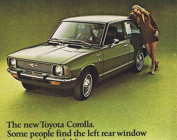 1971 Toyota Corolla or Ford Club Wagon Original Vintage Advertisement with Great Photos