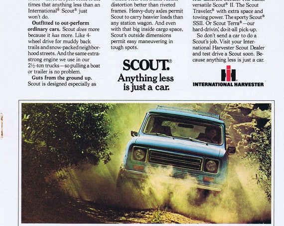 1979 International Harvester Scout or Whirlpool Refrigerator Original Vintage Advertisements