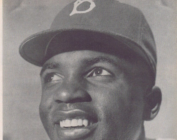 1947 Historical Jackie Robinson Opening Day and His Picture for Brooklyn