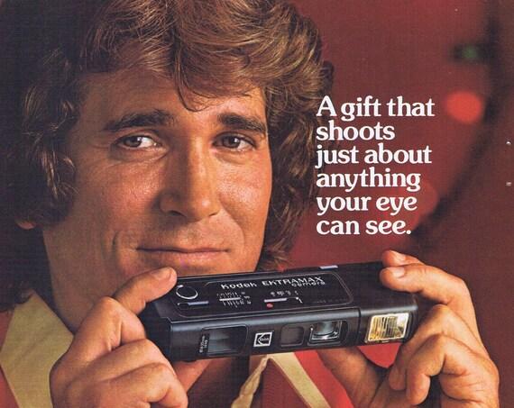 1978 Michael Landon and Kodak New Ektramax Camera or Ford Fairmont Car  Original Vintage Advertisements