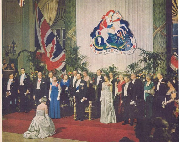 1949 Governor General Viscount Alexander of Tunis and Notables with 18-year-old Debutante Audrey Robinson Large Picture