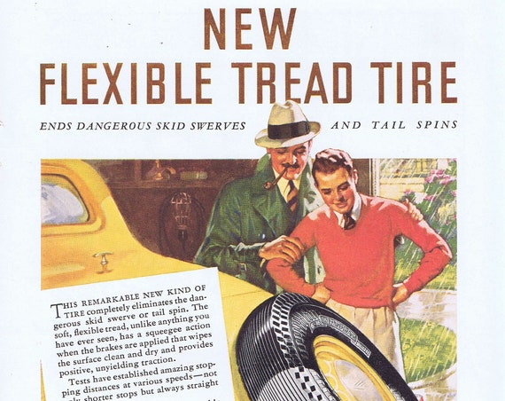 Remarkable Tire General Dual 10 Tires Old 1936 Ad