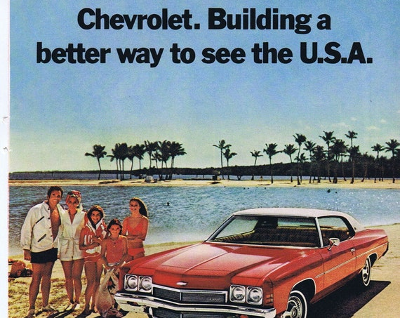1972 Chevrolet Impala at the Beach in Miami Original Vintage Car