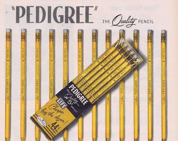 1956 Pedigree Quality 5 Cent Pencils Original Vintage Advertisement Cheaper Buy the Dozen