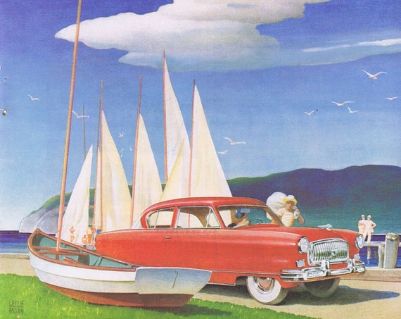 1953 Nash Motors and Budd 50th Anniversary Original Vintage Advertisement