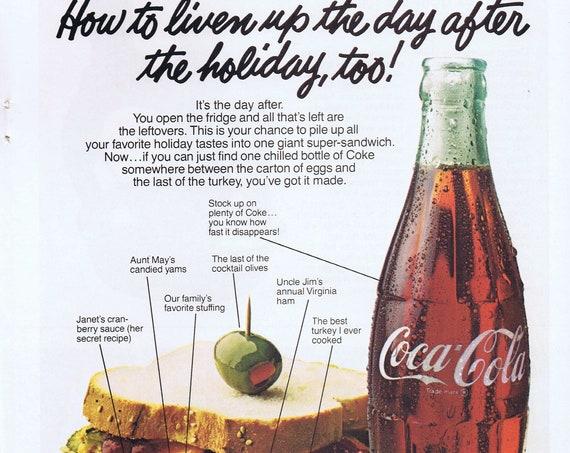 1978 Coke Adds Life  Original Vintage Christmas Advertisement