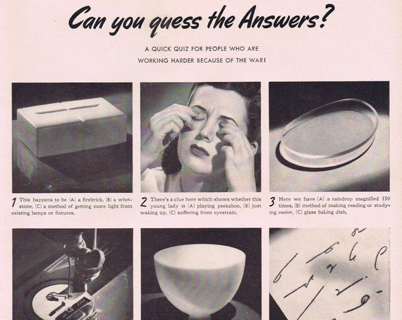 Daddy What is a Dermatologist or General Electric WW2 Quiz Old Advertisement