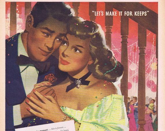 1947 Community Wedding Silverware  or Wurlitzer Phonograph Music Original Vintage Advertisement