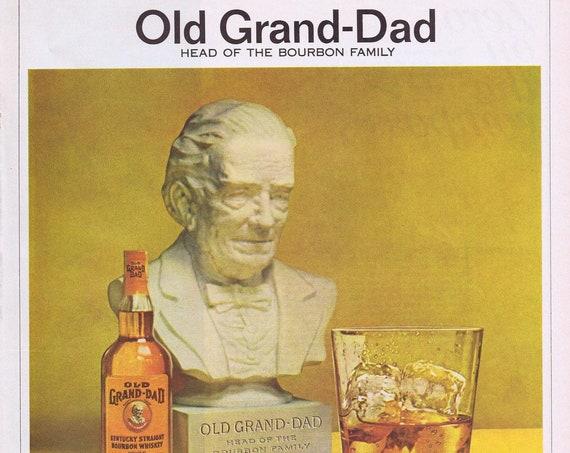 1965 Old Grand-Dad Kentucky Straight Bourbon Whiskey Original Advertisement