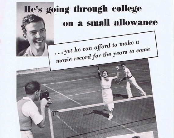 Old Kodak Movie Camera 1936 Vintage Advertisement
