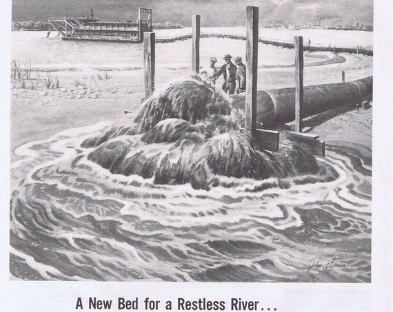 1950 Nickel and River Flood Control Original Vintage Advertisement