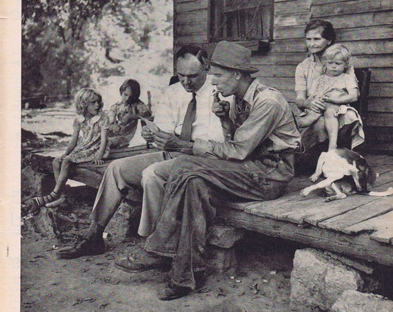 1943 Missouri Congressman Max Schwabe Home Folks Vintage Feature What His Constituents were Saying Neat Photo of Ozark Sharecropper Family