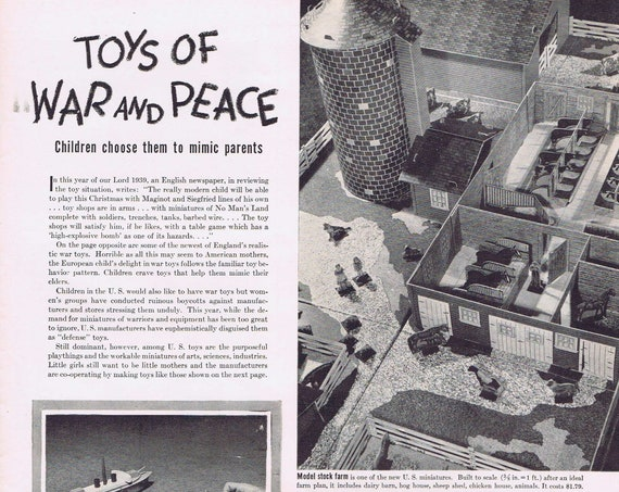 Christmas 1939 Toys of War and Peace for Children Interesting Feature Story with Pictures