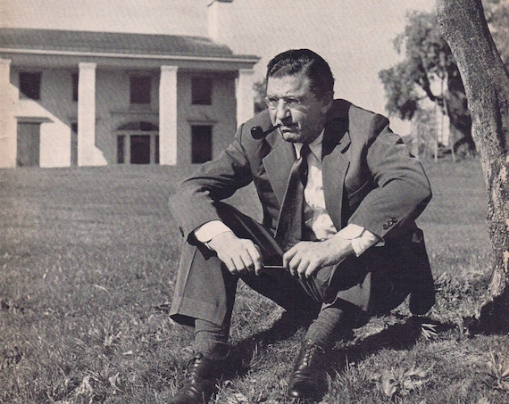 1939 David O Selznick Picture on Lawn of  Gone With the Wind's Scarlett O'Hara's Tara in Serious Thought Movie Pictures Prior to Premiere