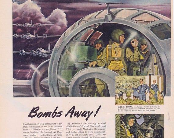 1951 B-50 U.S. Air Force Strategic Air Command Original Vintage Advertisement