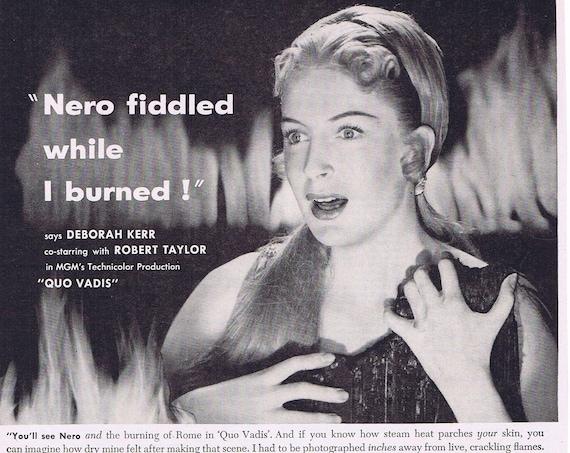 1952 Deborah Kerr and Jergens Lotion Starring in Quo Vadis Original Vintage Advertisement